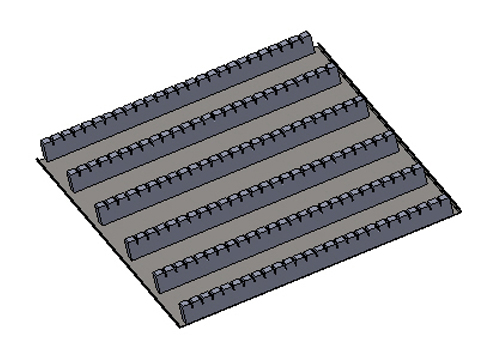 Slotted Rack for automation load or unload PCB panels